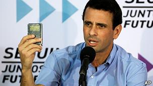 líder de la oposición venezolana, Henrique Capriles