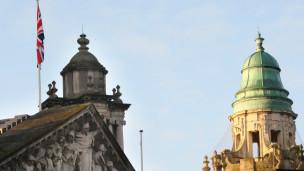 bandera británica en Belfast