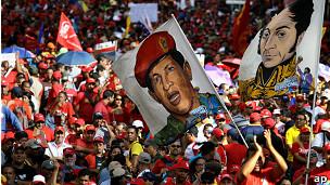 Acto chavista en Caracas