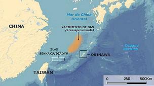 mapa de las islas senkaku diaoyu