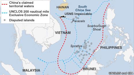 Bản đồ 'lưỡi bò' của Trung Quốc