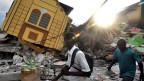Casa destruida por terremoto de 2010 en Haiti