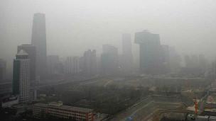 北京2013年1月13日的大雾天