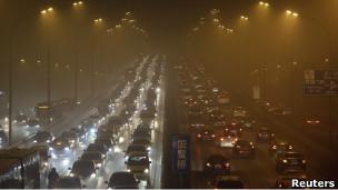 北京的雾霭天气