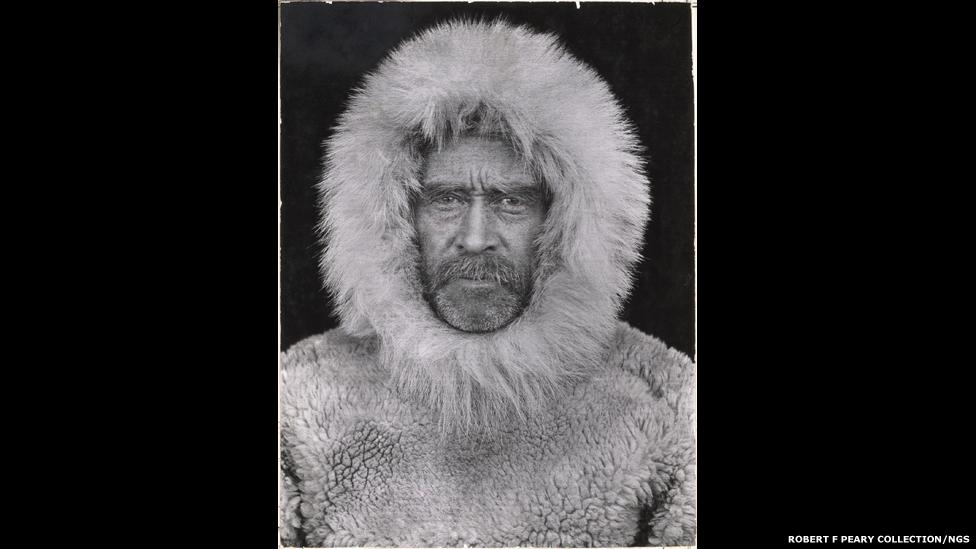 Foto tirada durante a expedição de Robert E. Peary em 1909 rumo ao polo norte