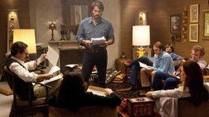"""Ben Affleck con los otros actores de """"Argo"""""""