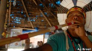 Índio na Aldeia Maracanã, em foto de arquivo da Ag Brasil
