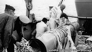 bomba H recuperada del mar en Palomares España