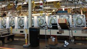 Lavadoras en la fábrica