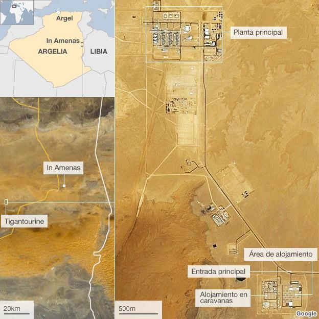 Mapa de la planta de Tigantourine