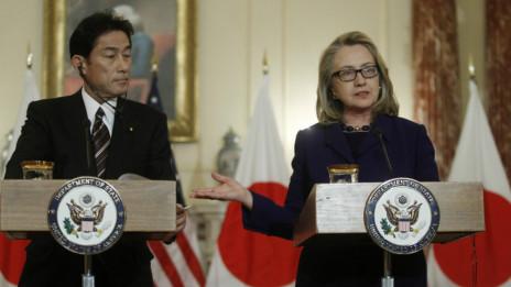 Buổi họp báo chung giữa Clinton và Kishida