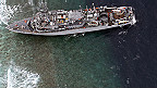 Tàu USS của Mỹ bị kẹt ở biển Philippines
