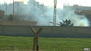 Танки в приграничной зоне (меж Турцией и Сирией)
