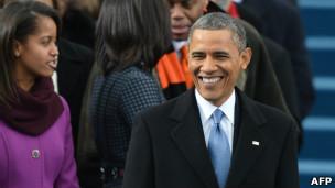 Barack Obama y su hija