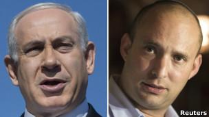 Benjamin Netanyahu y Naftali Bennett