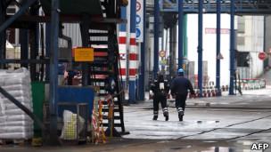 Fábrica em Rouen onde ocorreu vazamento. | Foto: AFP