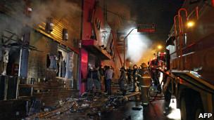 Пожар в клубе в Бразилии