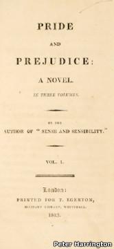 Primera edición de Orgullo y prejuicio