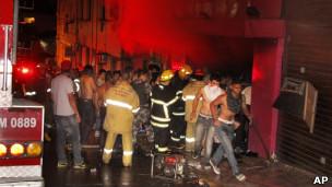 Incêndio em Santa Maria. AP