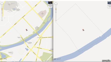 Bản đồ Bắc Hàn trên Google Maps