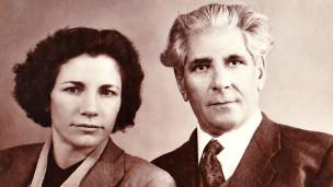 ابراهیم زاده و همسرش