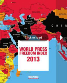 Phúc trình Chỉ số Tự do Báo chí của Tổ chức Phóng viên không biên giới (RSF)
