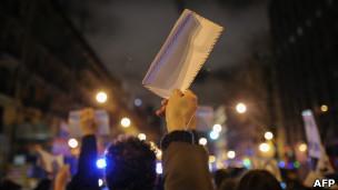 Protestas por supuesto caso de corrupción en la sede del PP