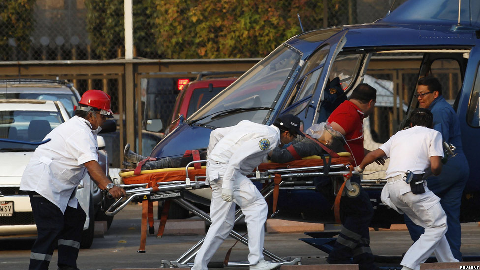 Helicóptero evacúa a un herido