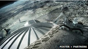 تصميمات لبنايات يمكن أن تبنى على القمر