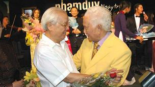 Phạm Duy và cố Thủ tướng Võ Văn Kiệt