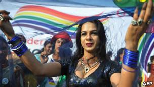 Представители ЛГБТ-сообщества на параде в Хайдарабаде
