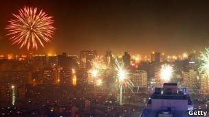 北京春节烟花