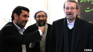 علی، صادق لاریجانی و احمدی نژاد