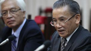 Ông Nguyễn Đình Lộc và Chu Hảo tại cuộc gặp