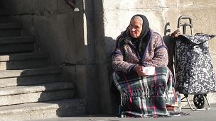 Mujer pobre Espana