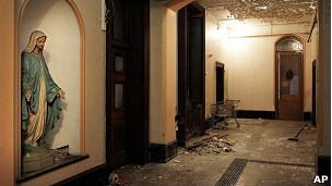 Interior de un antiguo asilo o lavandería magdalena en Dublín