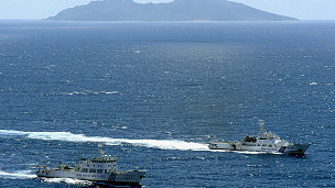中国海监船和钓鱼岛