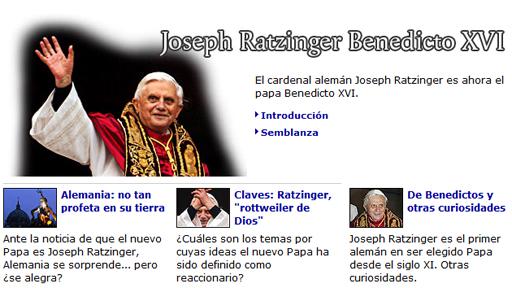 Imagen del archivo de la investidura de Benedicto XVI