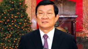 Chủ tịch Trương Tấn Sang đọc thư chúc Tết