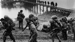 Desembarco británico en las Falklands/Malvinas