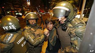 Protesta mapuche (foto de archivo)