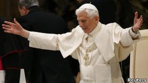 Папа Бенедикт в Ватикане