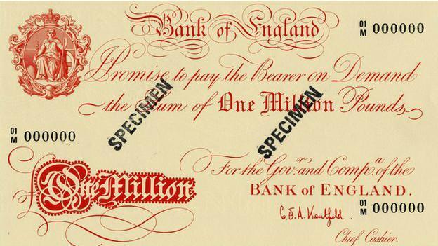 Billete de un millón de libras