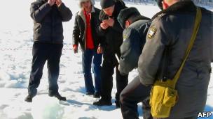 Спасатели на озере Чебаркуль