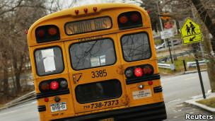Autobús escolar en la ciudad de Nueva York