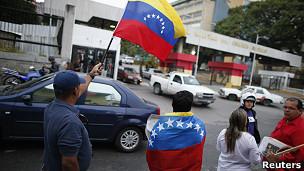 Simpatizantes de Chávez