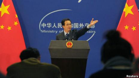 hồng Lỗi, phát ngôn viên bộ Ngoại giao Trung Quốc