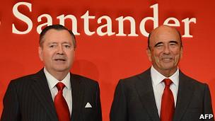 Alfredo Sáenz y Emilio Botín