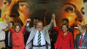 Lula con Dilma Rousseff