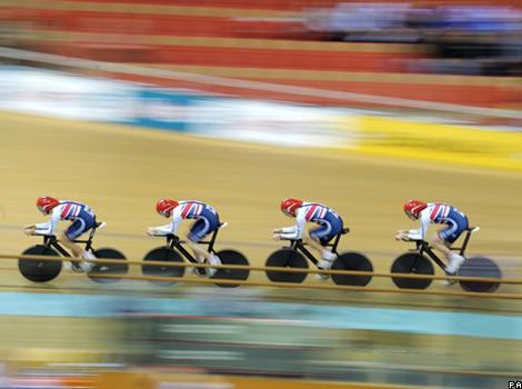 Britain's cycling team pursuit squad